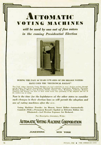 automatic voting machine