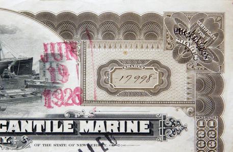 scripophily Titanic stocks page