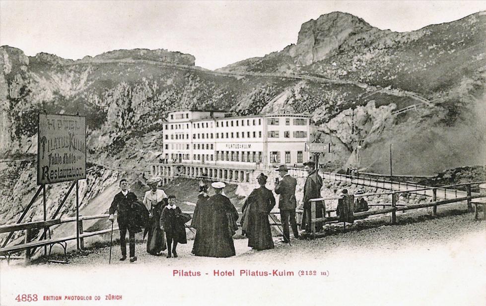pilatus%20kulm%20ca%201905%20b - The Pilatus Bahn at 130